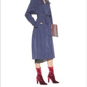 Stuart Weitzman Clinger Velvet Boots Scarlet 6.5 7